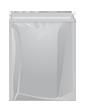 Saco de plástico com pala adesiva