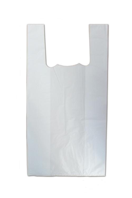 Saco de plástico com alça branco