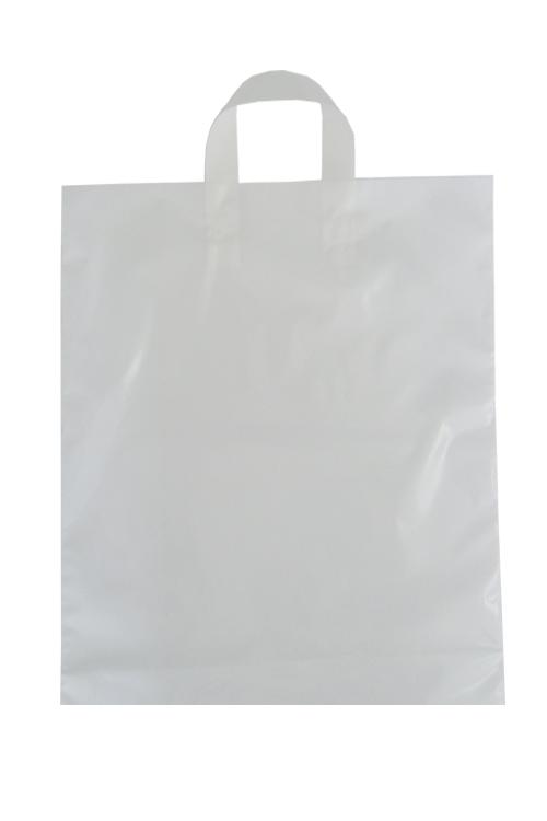 Saco de plástico com pega flexível
