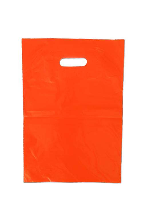 Saco de plástico com asa vazada