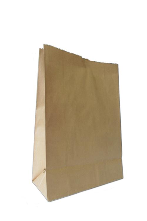 Saqueta de papel fundo quadrado kraft castanho