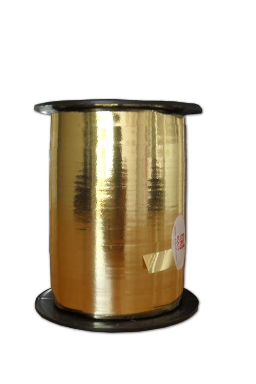 Fita de embrulho metalizada ouro 10x250
