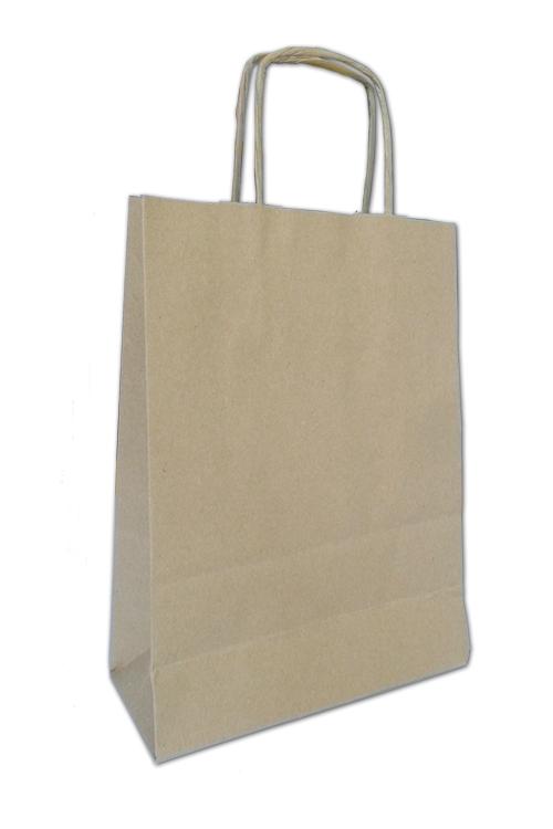 Saco de papel com asa torcida formato vertical