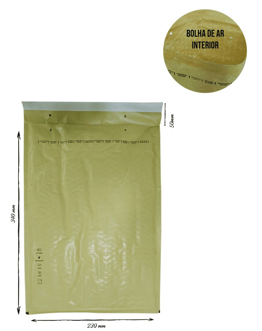 Envelopes de Papel Com Bolha de Ar